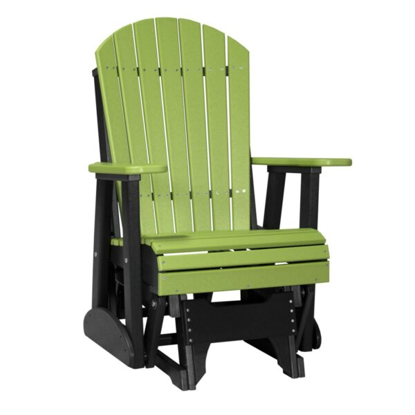 Single Adirondack Glider - Lime Green & Black