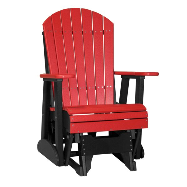 Single Adirondack Glider - Red & Black