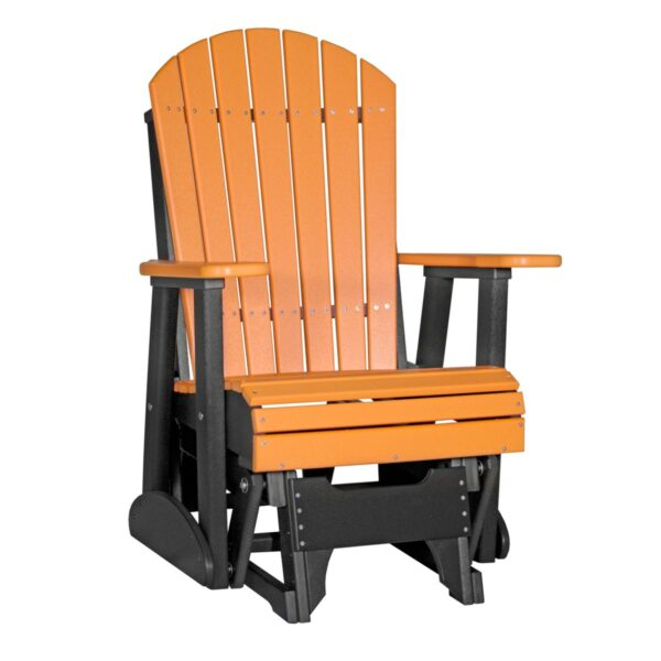 Single Adirondack Glider - Tangerine & Black