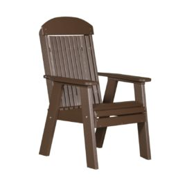 Single Classic Bench - Chestnut Brown
