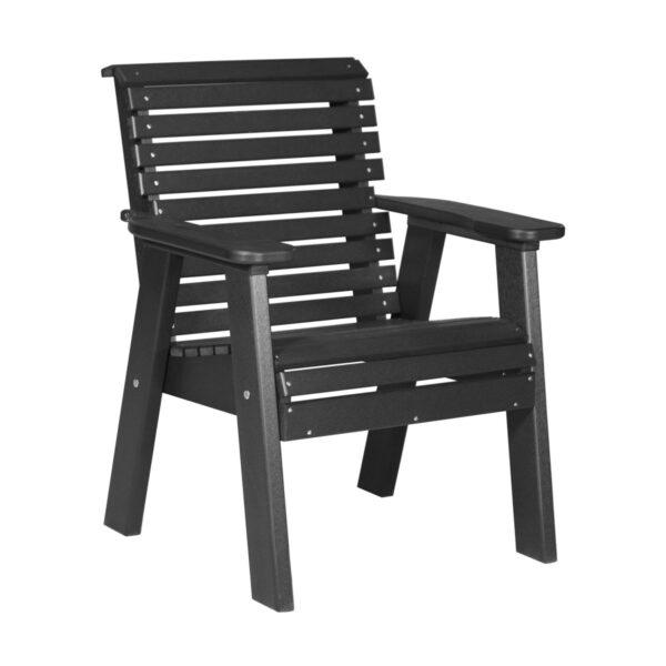 Single Plain Bench - Black