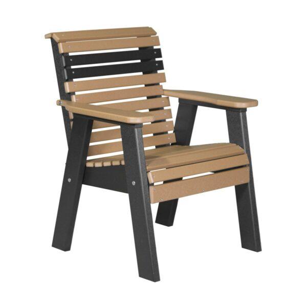 Single Plain Bench - Cedar & Black