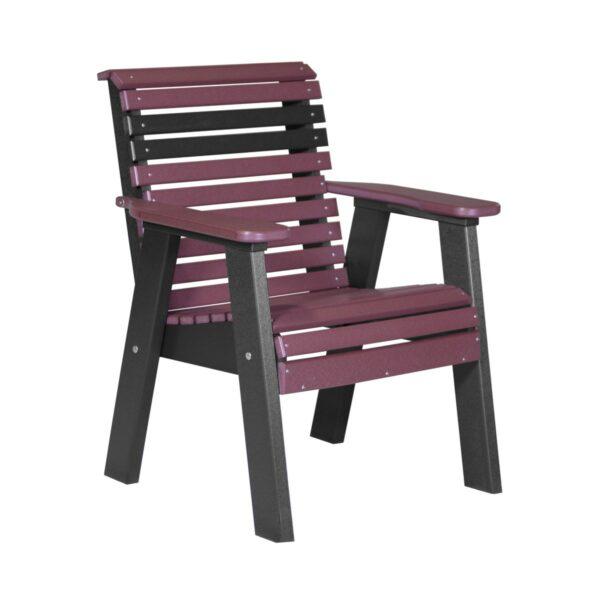 Single Plain Bench - Cherry & Black