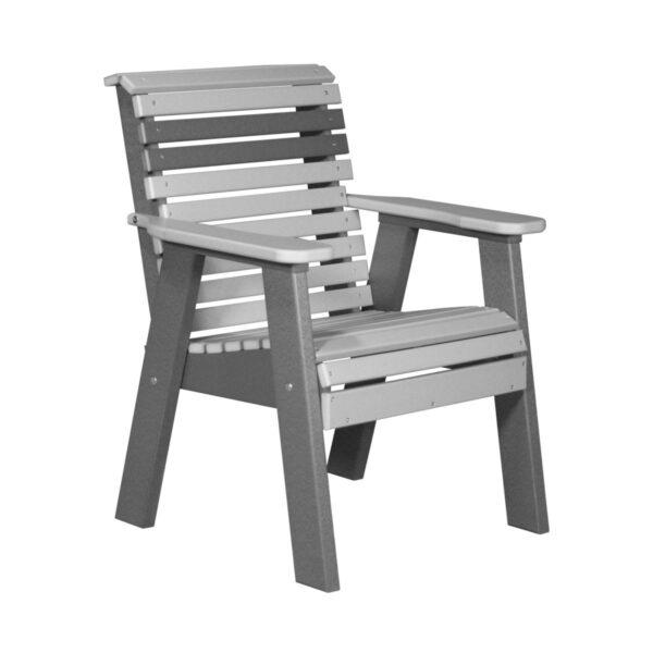 Single Plain Bench - Dove Gray & Slate