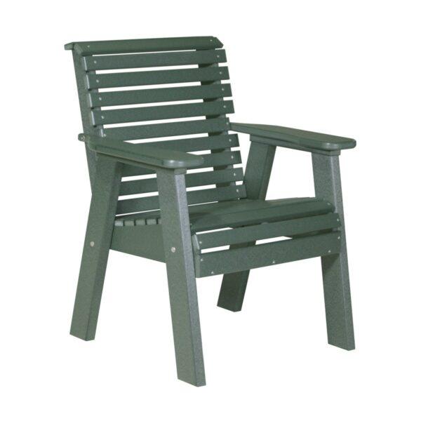 Single Plain Bench - Green