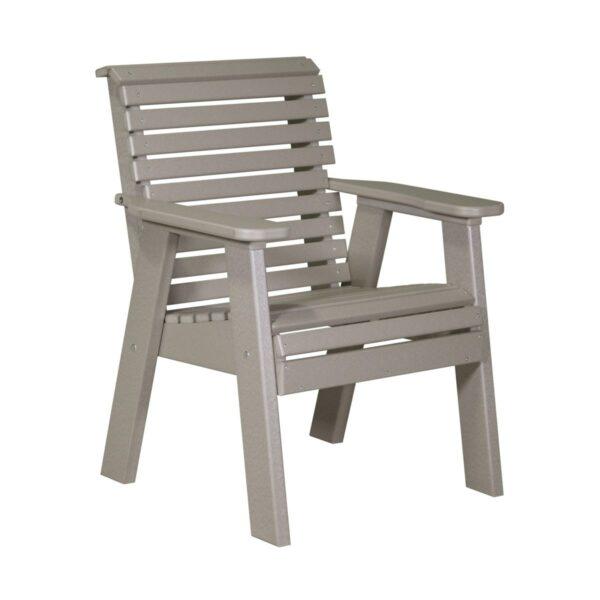 Single Plain Bench - Weatherwood