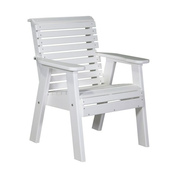 Single Plain Bench - White