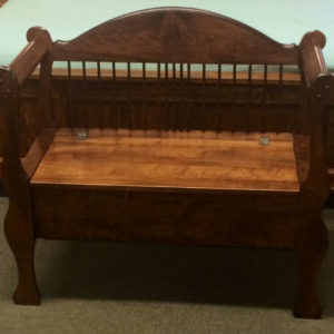 Sleigh Bench with Arms