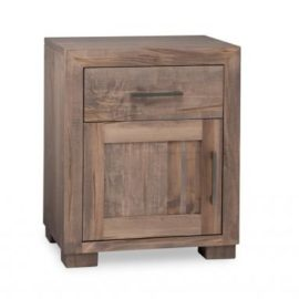 Steel City 1-Door 1-Drawer Nightstand