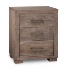 Steel City 3-Drawer Nightstand