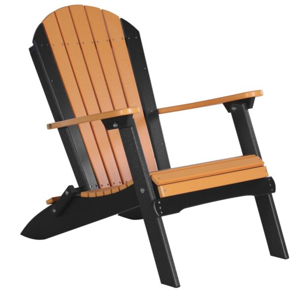 Folding Adirondack Chair - Tangerine & Black