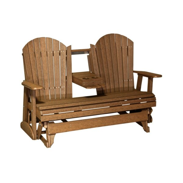 Triple Adirondack Glider - Antique Mahoganyq