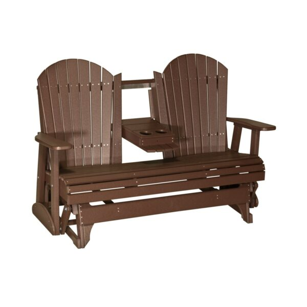 Triple Adirondack Glider - Chestnut Brown