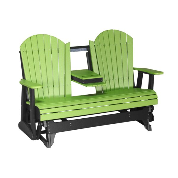 Triple Adirondack Glider - Lime Green & Black