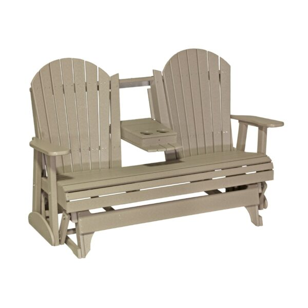 Triple Adirondack Glider - Weatherwood