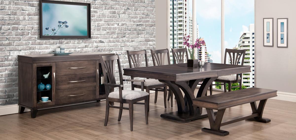 Solid Wood Modern Dining Set