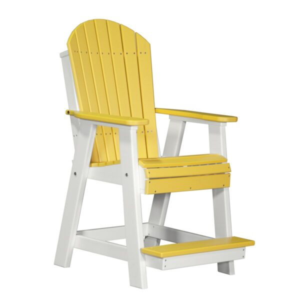 Adirondack Balcony Chair - Yellow & White