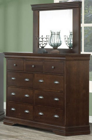 Bayshore 9 Drawer Mule Dresser Solid Wood Bedroom Furniture