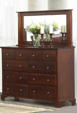 georgian bay 9 drawer mule dresser solid wood bedroom furniture. Black Bedroom Furniture Sets. Home Design Ideas