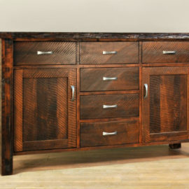 Live Edge 6-Drawer 2-Door Sideboard