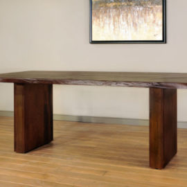 Live Edge Pillar Dining Table (Trestle)