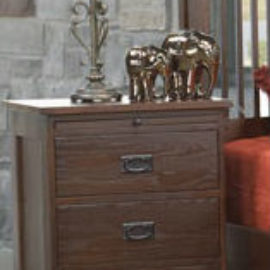 Mission Revival 3-Drawer Nightstand