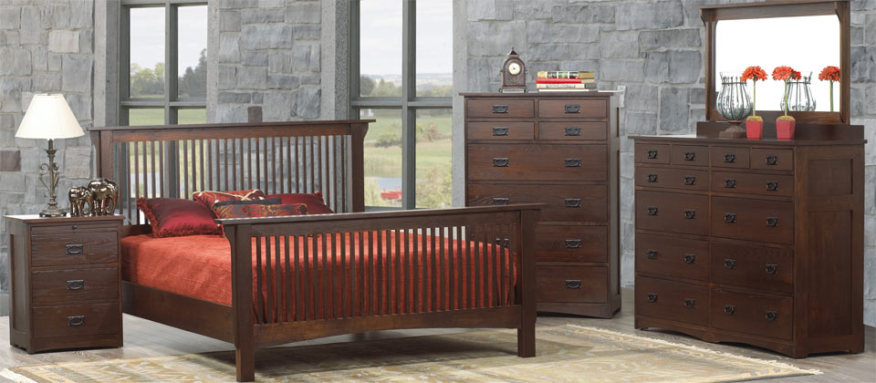 Mission Revival Bedroom Set Canadian Solid Wood Bedroom Furniture