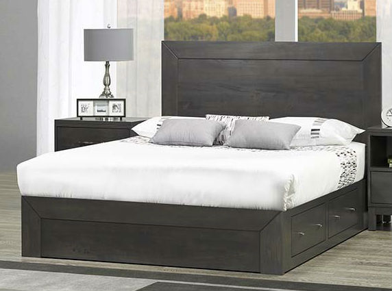Sydenham Queen Storage Platform Bed Solid Wood Bedroom