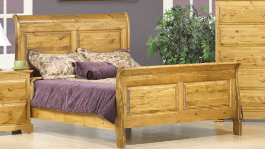 Thomas Queen Sleigh Bed Canadian Solid Wood Bedroom Furniture
