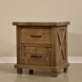 Truss 2-Drawer Nightstand