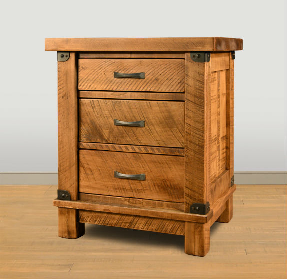 Galley 3-Drawer Nightstand