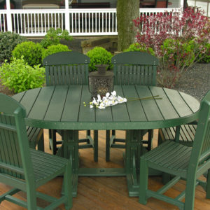 Oval Table 5-Piece Patio Dining Set