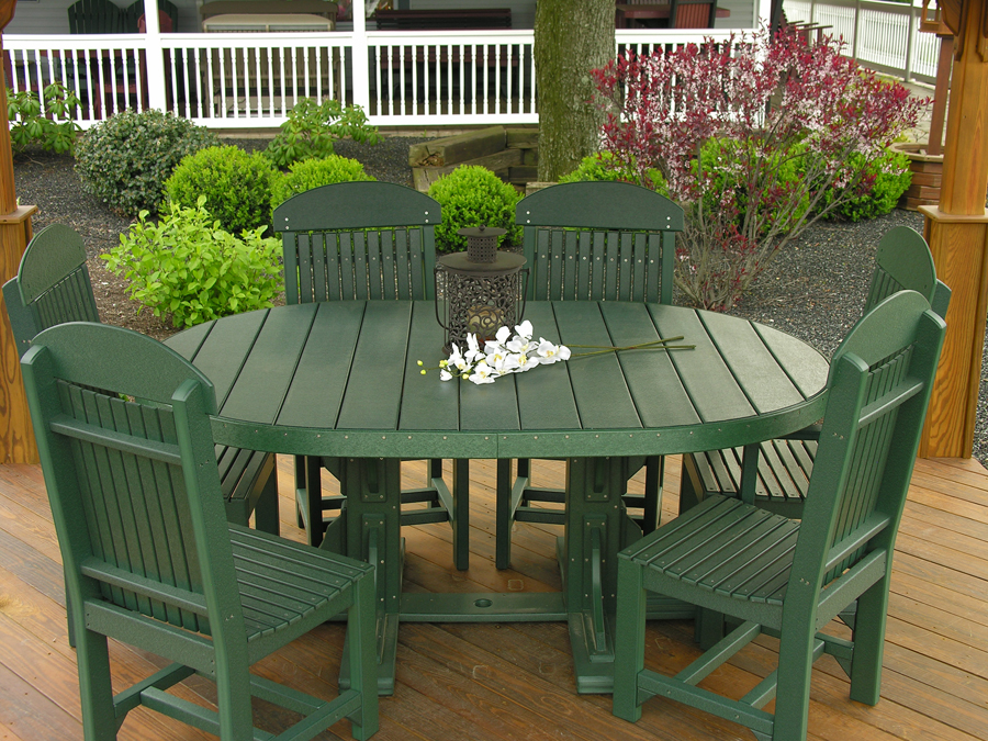 Oval Table 5 Piece Patio Dining Set Recycled Patio