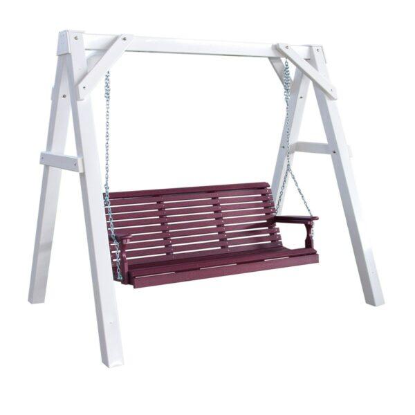 A-Frame Swing Stand - White Vinyl