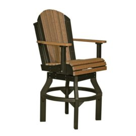 Adirondack Swivel Bar Chair - Antique Mahogany & Black