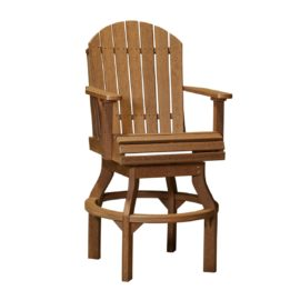 Adirondack Swivel Chair (Bar Height Shown) - Antique Mahogany