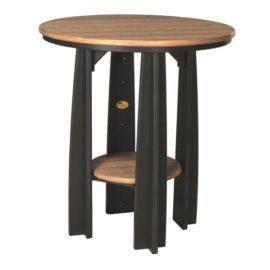 Balcony Table - Antique Mahogany & Black
