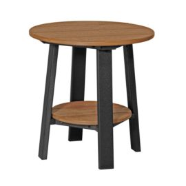 Deluxe End Table - Antique Mahogany & Black
