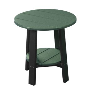 Deluxe End Table - Green & Black