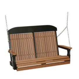 Double Classic Swing - Antique Mahogany & Black