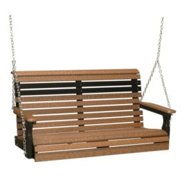 Double Plain Swing - Antique Mahogany & Black