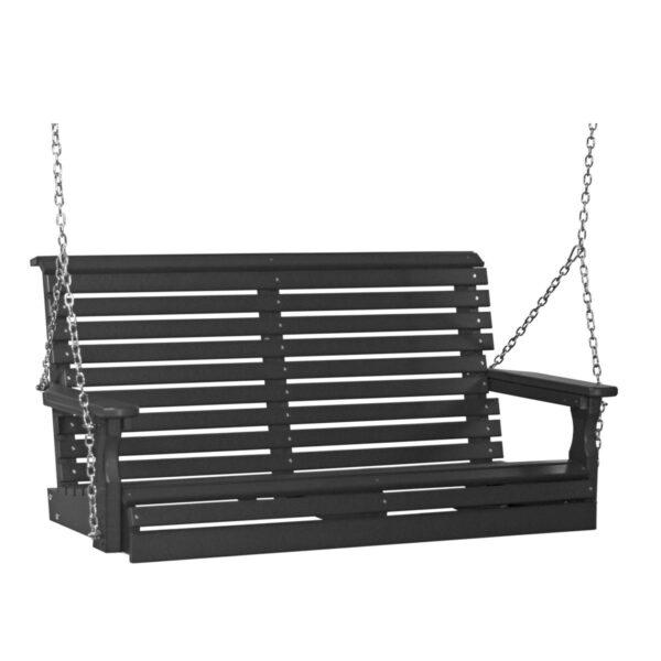 Double Plain Swing - Black