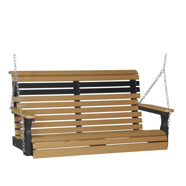 Double Plain Swing - Cedar & Black
