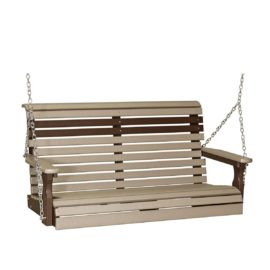 Double Plain Swing - Weatherwood & Brown