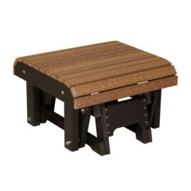 Glider Footrest - Antique Mahogany & Black