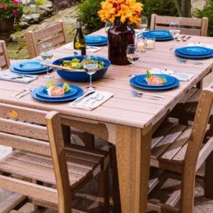 Island 7-Piece Dining Set on Patio