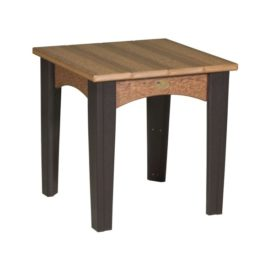 Island End Table - Antique Mahogany & Black