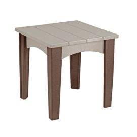 Island End Table - Weatherwood & Brown