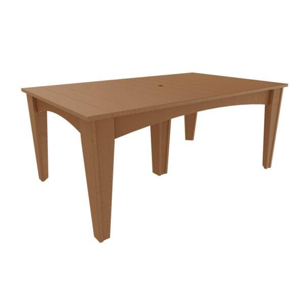 Island Rectangular Table - Antique Mahogany
