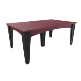 Island Rectangular Table - Cherry & Black